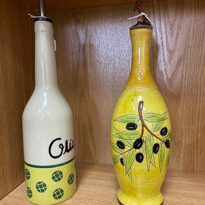 Ceramic Olive Oil Cruet Pottery Oil bottle Ceramic oil bottles for Sale in Houston, TX