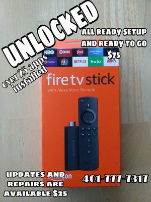 UNLOCKED AMAZON FIRE TV STICKS for Sale in Warwick, RI
