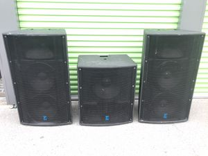 """3 Yorkville Elite (2) Dual 15"""" E2152 1500w, 15"""" LS808B 800w Loud Speakers for Sale in Castro Valley, CA"""