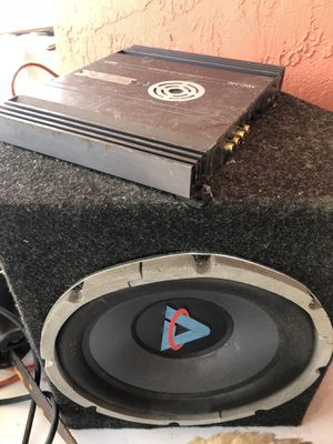 Amp and subwoofer for car for Sale in Miami, FL