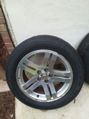 Four dodge charger RT 18 inch rim and tires for Sale in Fort Washington, MD