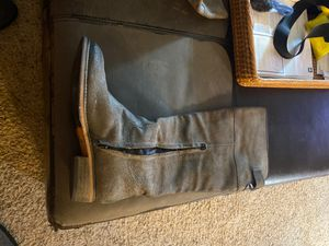 BP Brass Plum Nordstrom Darbie Leather Knee High Riding Boots Size 9 Gray for Sale in Brier, WA