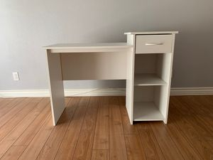 White plywood desk (with drawer and shelf) for Sale in Chino Hills, CA