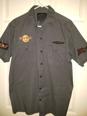 Hard rock cafe button down shirt for Sale in WA, US