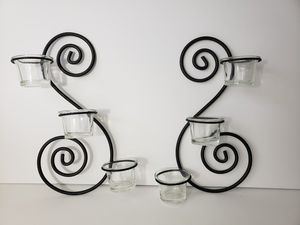 2 Metal Wall Sconce Hanging Candle Holder for Sale in Orlando, FL