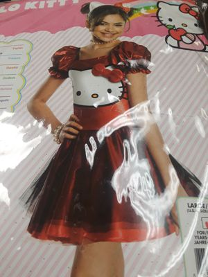 Hello kitty costume dress L for Sale in Midway City, CA