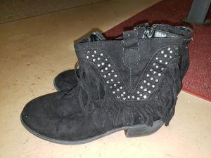 Paris Blues girls 3.5 black ankle boots for Sale in Port Orange, FL