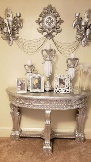 Big Beautiful antique pieces,table with wall sconce for Sale in Reading, PA