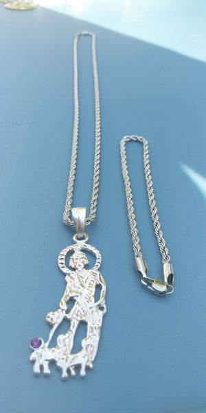 🚚💨I deliver🚀I Ship...😍😍💎White Gold plated 💦 Necklace charm and bracelet🌟🌟🌟🌟🌟 for Sale in Fort Lauderdale, FL
