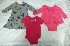 Baby Girls 3-6 Months 3 piece Lot - Dresses & Onsie - DISNEY & GARANIMALS for Sale in Largo, FL