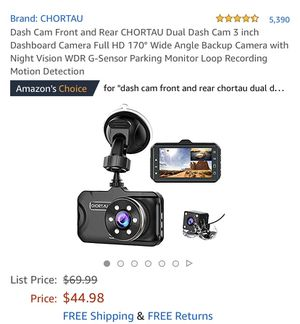 Dash Cam Front and Rear CHORTAU Dual Dash Cam 3 inch Dashboard Camera Full HD 170° Wide Angle Backup Camera with Night Vision WDR G-Sensor Parking Mo for Sale in Lilburn, GA