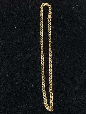 "Brand new 3.16 stainless steel 14k gold plated chain 24"" length by 8mm wide for Sale in Moreno Valley, CA"
