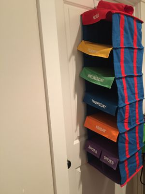 Kids closet organizer days of the week clothing rack - GUC for Sale in Bothell, WA