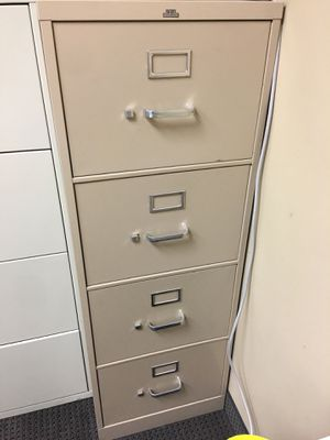 Tall 4 drawer metal file cabinet $110 OBO for Sale in Henderson, NV
