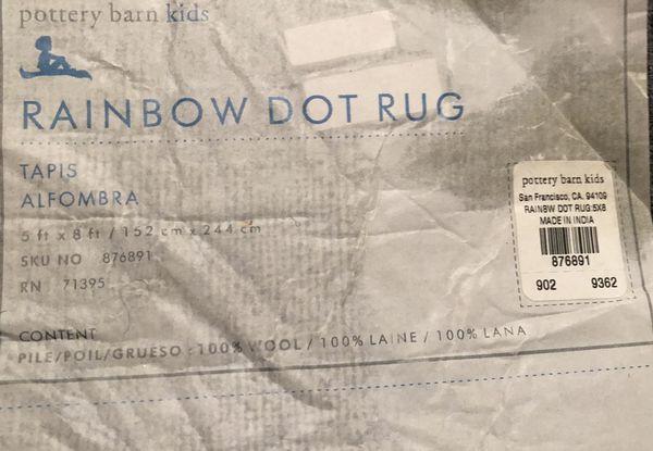 Pottery Barn Kids Rainbow Dot Rug