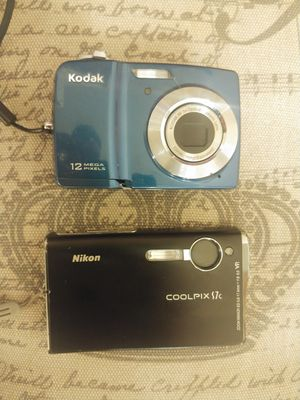 Nikon 7mp and Kodak 12mp Digital AA Battery Cameras for Sale in Kenmore, WA