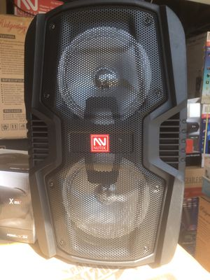 Brand new rechargeable Bluetooth speaker/fm radio/aux input/USB port and SD slot/includes microphone/new in box! for Sale in March Air Reserve Base, CA