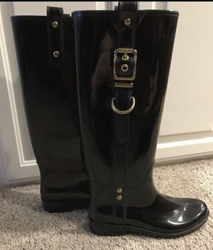 NEW Coach Fashion Rain Boots - size 6 for Sale in Federal Way, WA