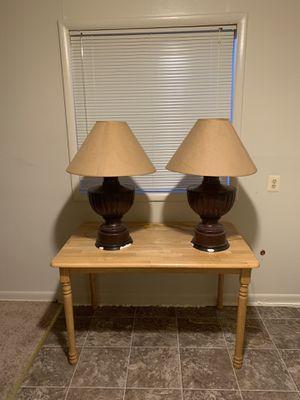 Pair of large brown lamps for Sale in Falls Church, VA