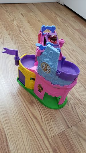 Fisher Price Little People Disney Princess Twist and Turn Palace Car Ramp Castle Playset for Sale in Phoenix, AZ