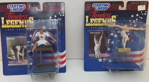 1996 Starting Lineup Timeless Legends Nadia Comaneci & Jim Thorpe for Sale in Lakewood, WA