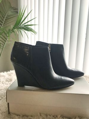 Black Ann Taylor Wedge Boots, Sz 8.5 for Sale in Rockville, MD