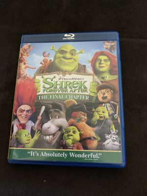 Shrek Blu-ray the final chapter for Sale in Puyallup, WA