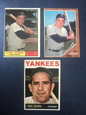 Yogi Berra vintage baseball card lot of 3 cards New York Yankees for Sale in Tampa, FL