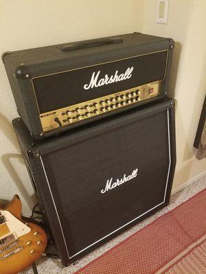 "Marshall 2000 AVT150H HYBRID PRETUBE GUITAR AMP & Marshall MX412A Lead 4x12"" 240WATT CAB Brand NEW With Foot Controller for Sale in Rancho Santa Margarita, CA"