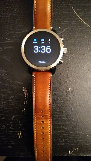 Leather band smartwatch fossil for Sale in Germantown, MD