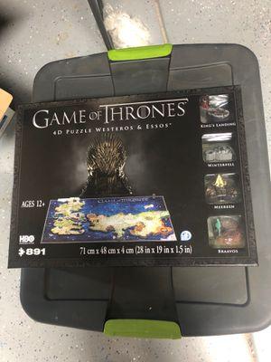 Puzzle Game of Thrones 4D puzzle Westeros & Essos for Sale in Ontario, CA
