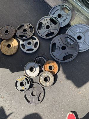 196lb Olympic weight set- mix matched for Sale in Parker, CO