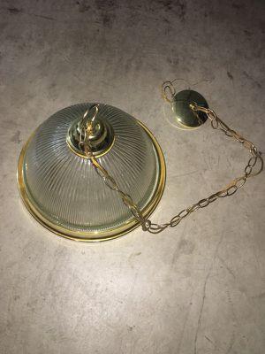 Brass & Glass Light Fixture for Sale in Stockton, CA