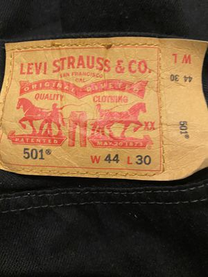501 Jeans 44 x 30 very well taken care of for Sale in Pomona, CA