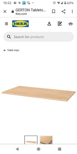 Ikea Gerton Wood Tabletop with 4 legs for Sale in Pleasant Hill, CA