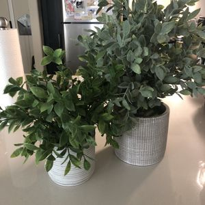 Faux Potted Plants (set of two) for Sale in Glendale, CA