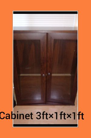 Cabinet , storage w shelves, 3ft×1ft×1ft for Sale in Naperville, IL