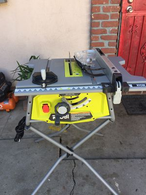 RYOBI 10 in. Table Saw with Stand for Sale in Rialto, CA