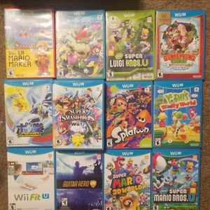 Nintendo wii u games ALL GAMES ARE DIFFERENT PRICES for Sale in Fresno, CA