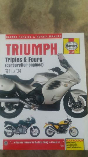 Haynes owners manual for Triumph motorcycles. 1991 to 2004 for Sale in Thomasville, PA