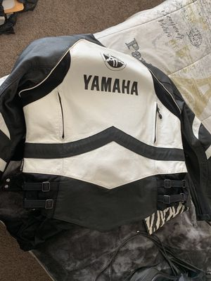 Women's motorcycle jacket Yamaha leather for Sale in Phoenix, AZ