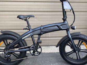 SDREAM X500 - 500 Watts Fat Tire Folding Aluminum Electric Bike in 2 Colors - Brand New for Sale in Diamond Bar,  CA