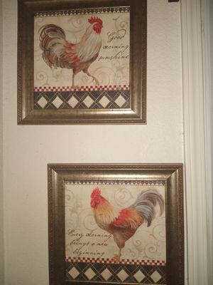 Rooster wall kitchen decor for Sale in Patterson, CA