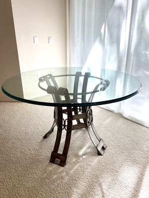 Glass Top Dining Table - Antique Wrought Iron for Sale in Huntington Beach, CA
