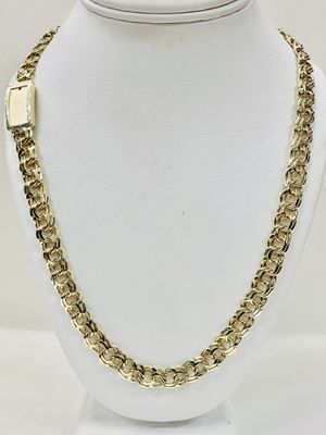 """10 karat gold chino link chain custom handmade 26"""" 9 mm payment available (# MMM165) for Sale in Houston, TX"""