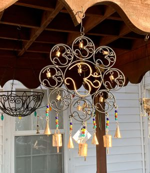 Cast Iron 9 Om Beads & Bells Wind Chime for Sale in Nashville, TN