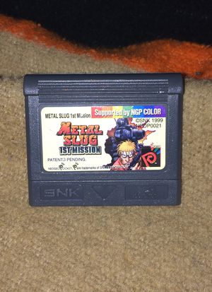 Metal Slug 1st Mission Neo Geo Pocket Color Game Cart MVS AVS Arcade Graphics for Sale in Trabuco Canyon, CA