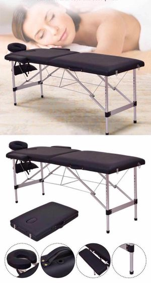 New in box 72 inches aluminum foldable portable spa massage tattoo parlor bed 500 lbs capacity for Sale in Los Angeles, CA