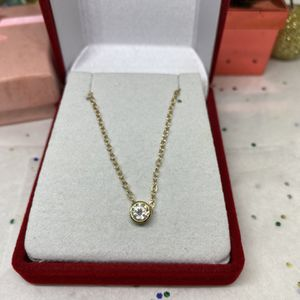 14k Yellow Gold & Diamond Necklace for Sale in Pomona, CA