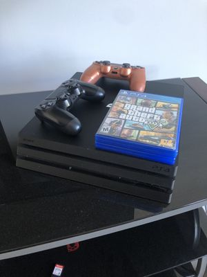 Ps4 Pro w/2 controllers & 2 games for Sale in San Jose, CA